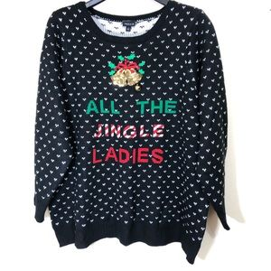 Torrid Christmas Sweater All the Jingle Ladies Sz4